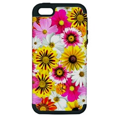 Flowers Blossom Bloom Nature Plant Apple Iphone 5 Hardshell Case (pc+silicone)