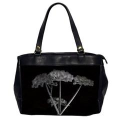 Dog Tube White Night Dark Ice Office Handbags (2 Sides)  by Amaryn4rt