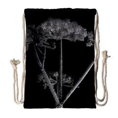 Dog Tube White Night Dark Ice Drawstring Bag (large) by Amaryn4rt
