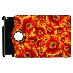 Gerbera Flowers Blossom Bloom Apple Ipad 2 Flip 360 Case by Amaryn4rt