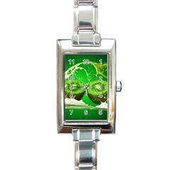 Kiwi Fruit Vitamins Healthy Cut Rectangle Italian Charm Watch by Amaryn4rt