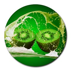 Kiwi Fruit Vitamins Healthy Cut Round Mousepads by Amaryn4rt