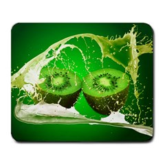 Kiwi Fruit Vitamins Healthy Cut Large Mousepads by Amaryn4rt