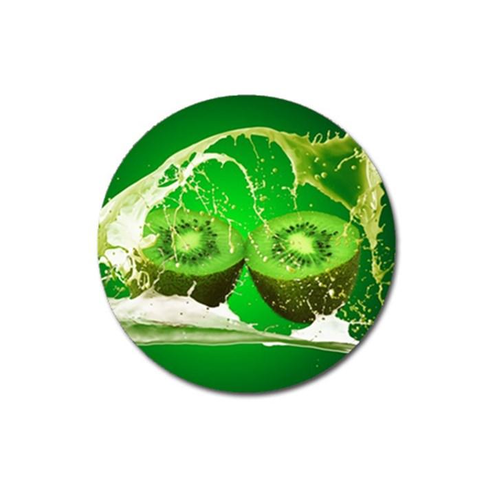 Kiwi Fruit Vitamins Healthy Cut Magnet 3  (Round)