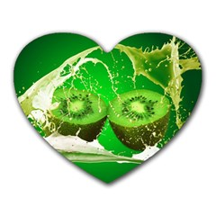 Kiwi Fruit Vitamins Healthy Cut Heart Mousepads by Amaryn4rt