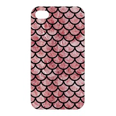 Scales1 Black Marble & Red & White Marble (r) Apple Iphone 4/4s Premium Hardshell Case by trendistuff