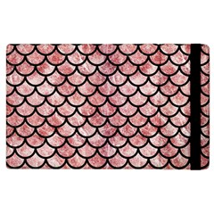Scales1 Black Marble & Red & White Marble (r) Apple Ipad 2 Flip Case by trendistuff