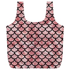 Scales1 Black Marble & Red & White Marble (r) Full Print Recycle Bag (xl) by trendistuff
