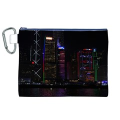 Hong Kong China Asia Skyscraper Canvas Cosmetic Bag (xl)