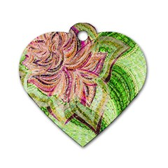 Colorful Design Acrylic Dog Tag Heart (two Sides)