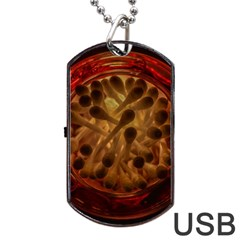 Light Picture Cotton Buds Dog Tag Usb Flash (two Sides)  by Amaryn4rt