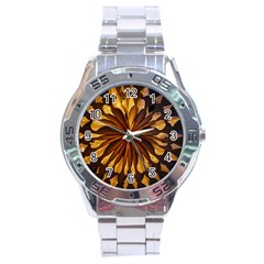 Light Star Lighting Lamp Stainless Steel Analogue Watch by Amaryn4rt