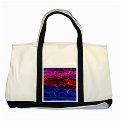 Lights Abstract Curves Long Exposure Two Tone Tote Bag by Amaryn4rt