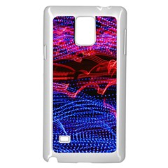 Lights Abstract Curves Long Exposure Samsung Galaxy Note 4 Case (white) by Amaryn4rt