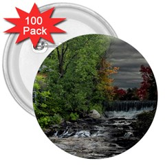 Landscape Summer Fall Colors Mill 3  Buttons (100 Pack)  by Amaryn4rt