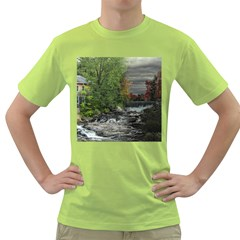 Landscape Summer Fall Colors Mill Green T Shirt