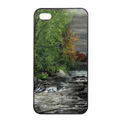 Landscape Summer Fall Colors Mill Apple Iphone 4/4s Seamless Case (black) by Amaryn4rt