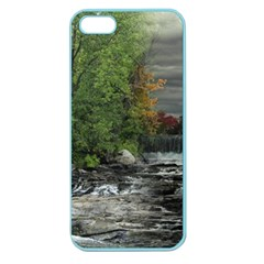 Landscape Summer Fall Colors Mill Apple Seamless Iphone 5 Case (color) by Amaryn4rt
