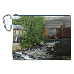 Landscape Summer Fall Colors Mill Canvas Cosmetic Bag (xxl) by Amaryn4rt