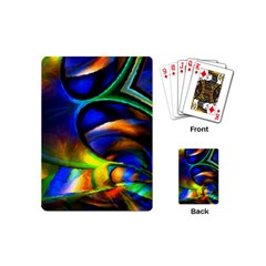 Light Texture Abstract Background Playing Cards (mini)  by Amaryn4rt