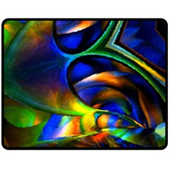 Light Texture Abstract Background Double Sided Fleece Blanket (medium)  by Amaryn4rt