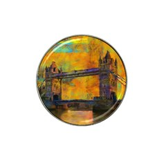 London Tower Abstract Bridge Hat Clip Ball Marker (4 Pack) by Amaryn4rt