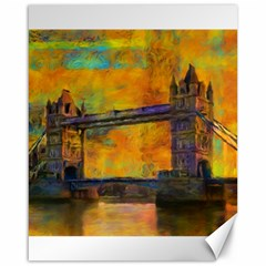 London Tower Abstract Bridge Canvas 16  X 20