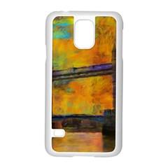 London Tower Abstract Bridge Samsung Galaxy S5 Case (white)