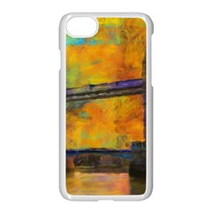 London Tower Abstract Bridge Apple iPhone 7 Seamless Case (White) by Amaryn4rt