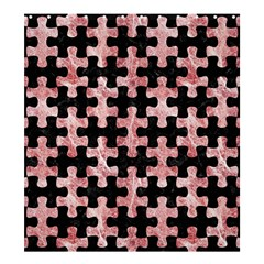 Puzzle1 Black Marble & Red & White Marble Shower Curtain 66  X 72  (large) by trendistuff