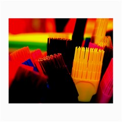 Plastic Brush Color Yellow Red Small Glasses Cloth by Amaryn4rt