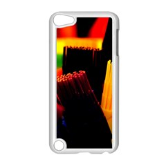 Plastic Brush Color Yellow Red Apple Ipod Touch 5 Case (white) by Amaryn4rt