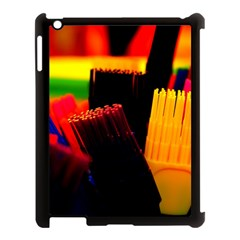 Plastic Brush Color Yellow Red Apple Ipad 3/4 Case (black) by Amaryn4rt
