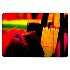 Plastic Brush Color Yellow Red Ipad Air Flip by Amaryn4rt