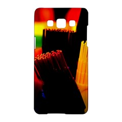 Plastic Brush Color Yellow Red Samsung Galaxy A5 Hardshell Case  by Amaryn4rt