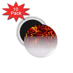 Effect Pattern Brush Red 1 75  Magnets (10 Pack)