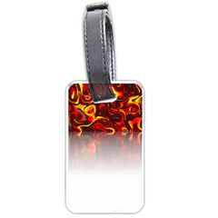 Effect Pattern Brush Red Luggage Tags (two Sides) by Amaryn4rt