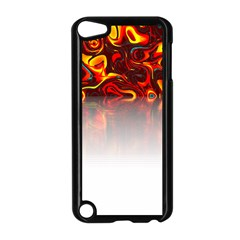 Effect Pattern Brush Red Apple Ipod Touch 5 Case (black)