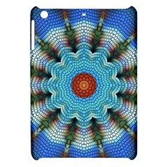 Pattern Blue Brown Background Apple Ipad Mini Hardshell Case by Amaryn4rt