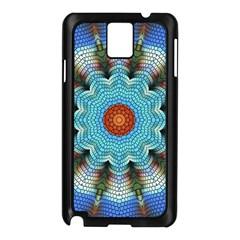 Pattern Blue Brown Background Samsung Galaxy Note 3 N9005 Case (black)