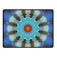 Pattern Blue Brown Background Double Sided Fleece Blanket (small)  by Amaryn4rt