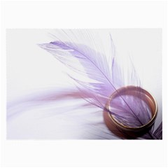 Ring Feather Marriage Pink Gold Large Glasses Cloth (2 Side) by Amaryn4rt