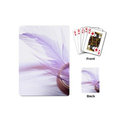Ring Feather Marriage Pink Gold Playing Cards (mini)  by Amaryn4rt
