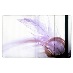 Ring Feather Marriage Pink Gold Apple Ipad 2 Flip Case