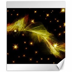 Particles Vibration Line Wave Canvas 8  X 10  by Amaryn4rt