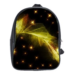 Particles Vibration Line Wave School Bags(large)