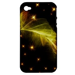 Particles Vibration Line Wave Apple Iphone 4/4s Hardshell Case (pc+silicone) by Amaryn4rt