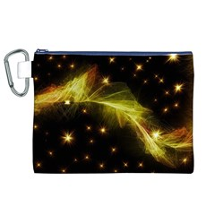 Particles Vibration Line Wave Canvas Cosmetic Bag (xl)