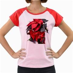 Star Of Bethlehem Star Red Women s Cap Sleeve T Shirt by Amaryn4rt