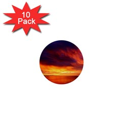 Sunset The Pacific Ocean Evening 1  Mini Buttons (10 Pack)  by Amaryn4rt